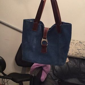 Dooney and Bourke suede  handbag
